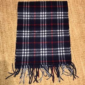 New Men's Burberry Check Cashmere
